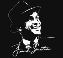 Frank Sinatra - Portrait and signature Kids Tee