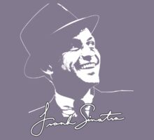 Frank Sinatra - Portrait and signature Kids Tee
