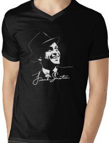 Frank Sinatra - Portrait and signature Mens V-Neck T-Shirt
