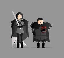 #11 Jon, Sam, and Ghost by LoriLoriLori