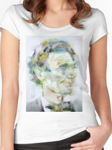 ABRAHAM LINCOLN - watercolor portrait.4 Women's Fitted Scoop T-Shirt