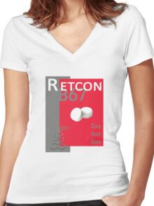 The Retcon Box Women's Fitted V-Neck T-Shirt