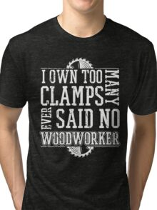 Woodworking Tools,Gift For Woodworker Dad Father Tri-blend T-Shirt