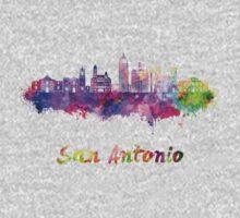 San Antonio skyline in watercolor One Piece - Long Sleeve