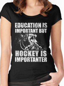Hockey Shirts-Gifts Funny,For Women,Men,Mom,Dad Hockey Lover Women's Fitted Scoop T-Shirt