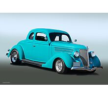 1936 Ford Coupe 3Q Pass Side Photographic Print