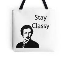 Stay Classy Stencil Tote Bag