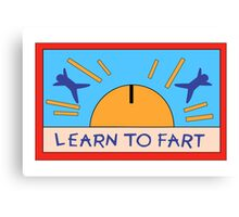 LEARN TO FART - BART´S FLAG Canvas Print
