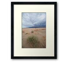 Death Valley NP, California (USA) - Dust & Clouds Framed Print