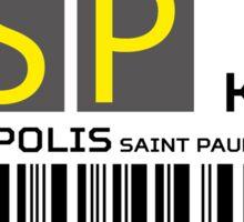 Destination Minneapolis Airport Sticker