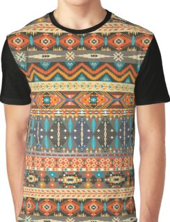 Colorful  tribal pattern with geometric elements Graphic T-Shirt