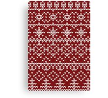 Christmas red pattern Canvas Print