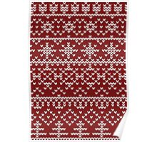 Christmas red pattern Poster