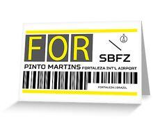 Destination Fortaleza Airport Greeting Card