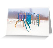 Cold Play Greeting Card