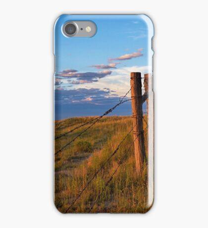 Prairie Fence Briggsdale Colorado iPhone Case/Skin