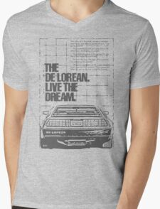 NEW Men's Retro Car T-Shirt Mens V-Neck T-Shirt