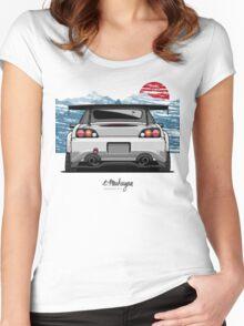 Honda S2000 (white) Women's Fitted Scoop T-Shirt