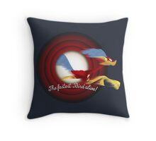 The Fastest Bird Alive! Throw Pillow
