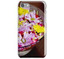 Bowl with chrysanthemum flowers iPhone Case/Skin
