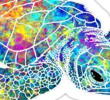 Sea Turtle Watercolor Art Sticker