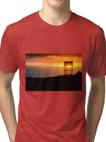 Water tower in Pennard, Wales Tri-blend T-Shirt