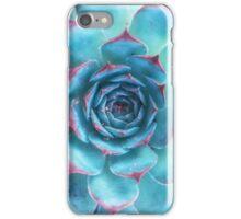 blue succulent iPhone Case/Skin