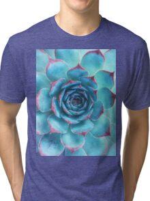 blue succulent Tri-blend T-Shirt