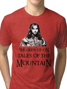 """We Grew Up On Tales Of The Mountain."" Tri-blend T-Shirt"