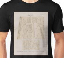 0650 Ptolemaeer Ptol XIII Neos Dionysos Edfu Idfû Grosser Tempel a Hinterseite des östlichen Pylonflügels b Südwand des kleinen Tempels Unisex T-Shirt