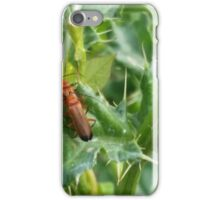 Insects on a Thistle leaf iPhone Case/Skin