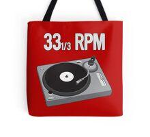 33 RPM Tote Bag