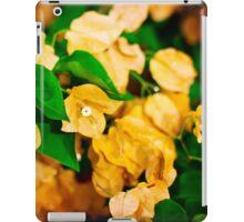 Bougainvillea flowers in a garden. Bright orange flowers.  iPad Case/Skin
