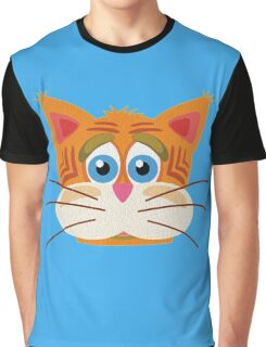 Cat Face Cartoon Vector Graphic Graphic T-Shirt
