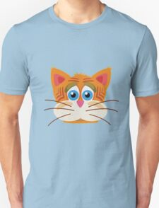Cat Face Cartoon Vector Graphic Unisex T-Shirt