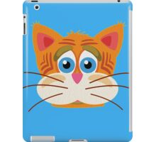 Cat Face Cartoon Vector Graphic iPad Case/Skin