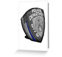 nypd,Blue line,usa,9 11,never forget ,hero,usa, Greeting Card