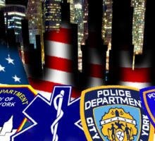 nypd,fdny,emt,papa,9 11,never forget ,hero,usa, Sticker
