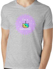 Rainbow Caticorns Mens V-Neck T-Shirt