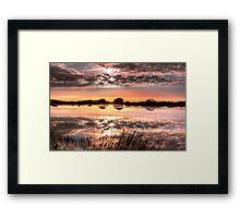 Broad Pool North Gower Framed Print