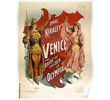 Venice - the bride of the sea at Olympia - Strobridge - 1891 Poster