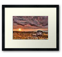 Arthur's stone Gower Swansea Framed Print