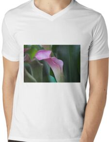 pink lily Mens V-Neck T-Shirt