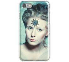 Winter beauty fantasy woman portrait iPhone Case/Skin