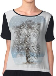 Nature and Geometry - The Sad Tree Women's Chiffon Top