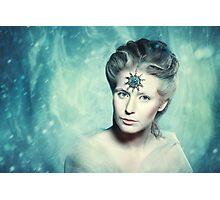 Winter beauty fantasy woman portrait Photographic Print