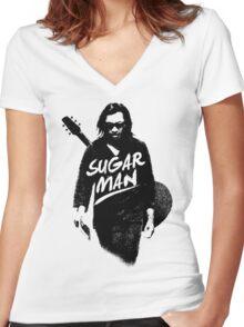 Sixto Rodriguez | Sugar Man Women's Fitted V-Neck T-Shirt