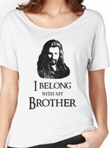 """I Belong With My Brother."" Women's Relaxed Fit T-Shirt"