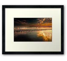 Mumbles Swansea bay sunset Framed Print