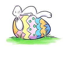 Sleeping Easter Bunny by Patricia Lupien